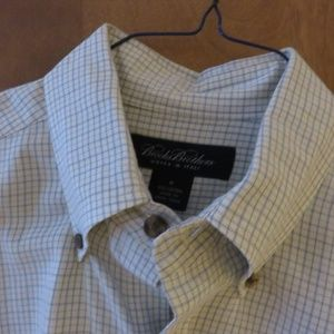 Brooks Brothers blue check button down shirt, nwot